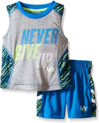 L.A. Gear Little Boys 2 Piece Never Give Up Short and Tank Set