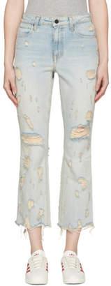 Alexander Wang Indigo Scratch Grind Jeans