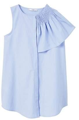 MANGO Ruffle asymmetric blouse