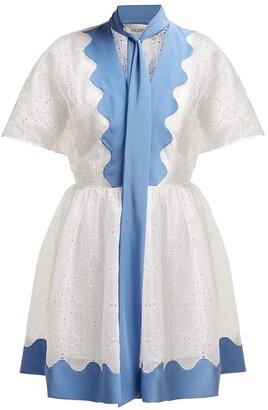 Valentino cotton eyelet dress