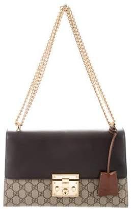 73ca6a04503ae2 Gucci GG Supreme Medium Padlock Shoulder Bag