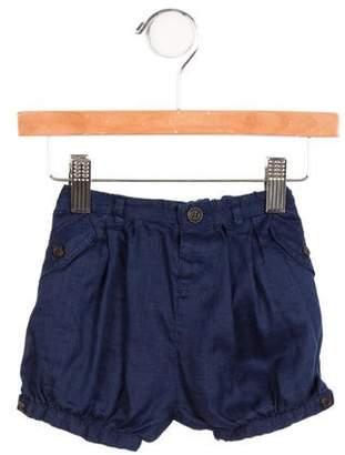 Burberry Girls' Pleated Mini Shorts