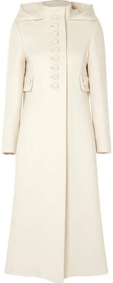 Gucci Hooded Wool Coat - Ivory