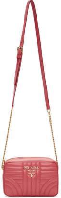 Prada Pink Quilted Diagramme Bag
