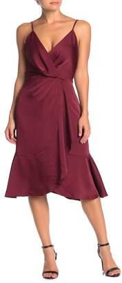 WAYF Cami Ruffle Hem Midi Dress