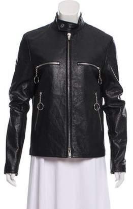 Balenciaga Leather Embroidered Jacket w/ Tags