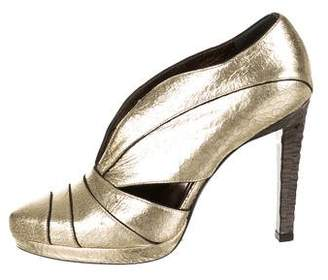 Calvin Klein Collection Metallic Semi Pointed-Toe Booties