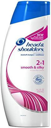 Head & Shoulders 2-in-1 Smooth & Silky Dandruff Shampoo + Conditioner 13.5 oz (Pack of 3)