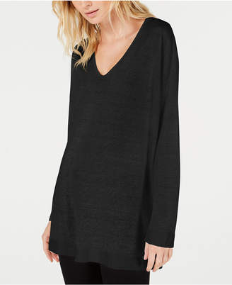 Eileen Fisher Organic V-Neck Tunic Sweater