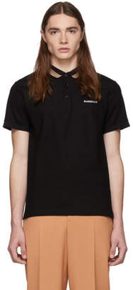 Burberry Black Icon Stripe Johnston Polo