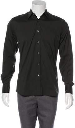 Prada Point Collar Button-Up Shirt