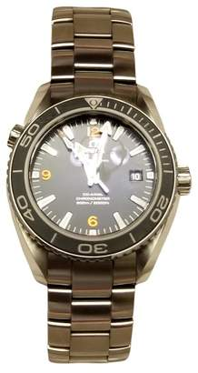 Omega Seamaster Stainless Steel & Black Dial 45.5mm Mens Watch