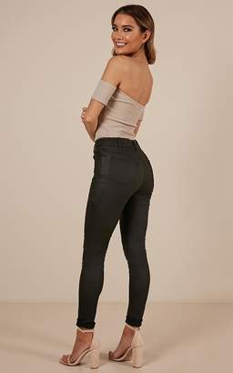 Showpo Lip Gloss jeggings in black-6 (XS) Back In Stock