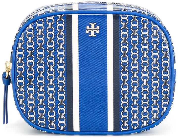 Tory Burch Tory Burch 'Gemini Link Stripe' make up bag