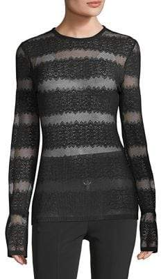 Yigal Azrouel Pleated Lace Top