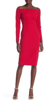 Bebe Boatneck Full Zip Dress