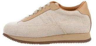 Hermes Canvas Low-Top Sneakers
