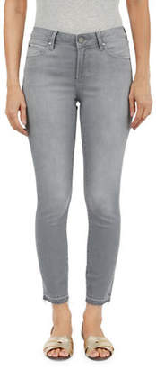 Articles of Society Frayed Cuff Skinny Crop Jeans