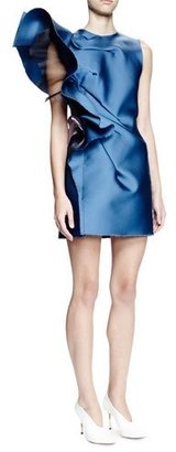 Lanvin Sleeveless Structured-Ruffle Mini Dress, Pristine Blue $3,150 thestylecure.com
