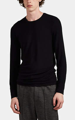 ATM Anthony Thomas Melillo Men's Rib-Knit Long-Sleeve T-Shirt - Black