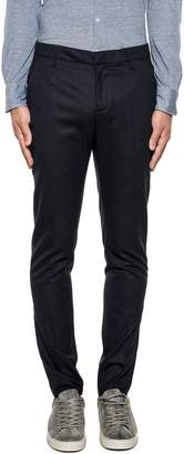 Dondup Dark Blue Gaubert Wool Trousers