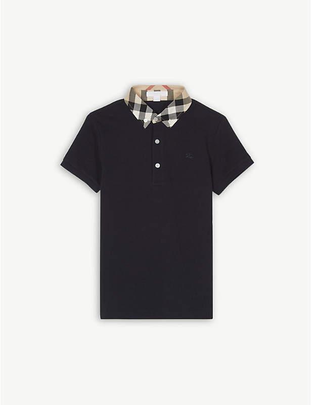Check collar polo shirt 4-14 years