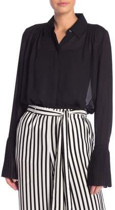 Frame Pleated Cuff Blouse