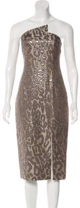 Cushnie et Ochs Strapless Knee-Length Dress