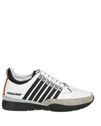 DSQUARED2 Laced Up 251 Sneakers In White Leather
