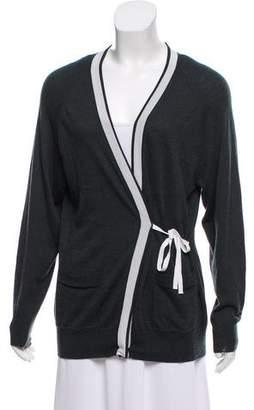 Dries Van Noten Rib-Knit Button-Up Cardigan