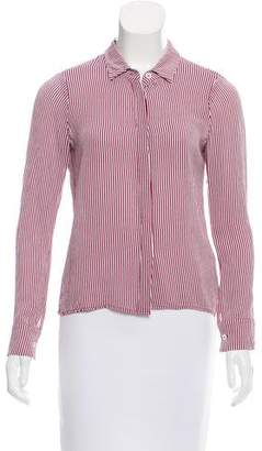 Reformation Stripe Button-Up Blouse