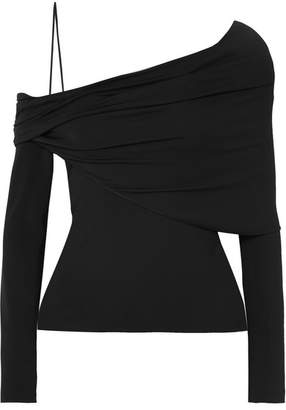 50dd8a2ac94c0 Cushnie et Ochs Draped One-shoulder Stretch-crepe Top - Black