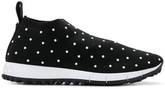 Jimmy Choo Norway pearl embellished sneakers