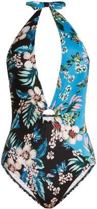 Diane von Furstenberg Cheeky floral-print swimsuit