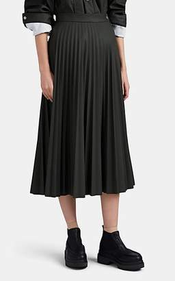 MM6 MAISON MARGIELA Women's Pleated Full Midi-Skirt - Dk. Green