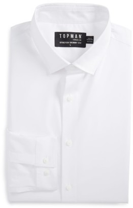 Men's Topman Skinny Fit Stretch Dress Shirt $55 thestylecure.com