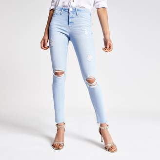 River Island Womens Light Blue Rl Molly mid rise jeggings