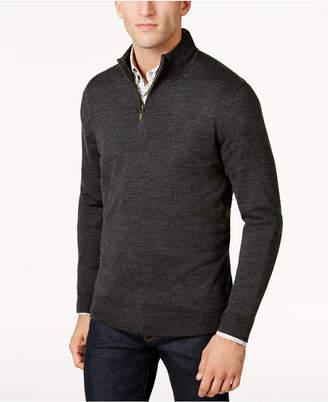 Club Room Men's Quarter-Zip Merino Performance Sweater