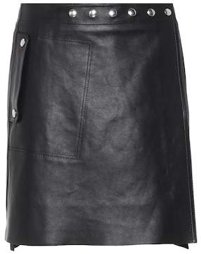 Acne Studios Shiryn studded leather miniskirt
