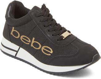 Bebe Black Brodie Logo Low-Top Sneakers