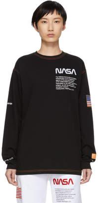 Heron Preston SSENSE Exclusive Black Long Sleeve T-Shirt