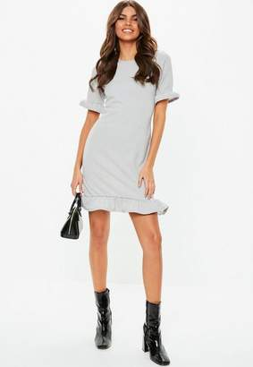 Missguided Frill Detail Short Sleeve Shift Dress