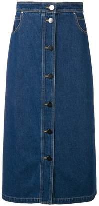 Christian Wijnants dark denim skirt