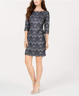 Jessica Howard Petite Allover Lace Sheath Dress
