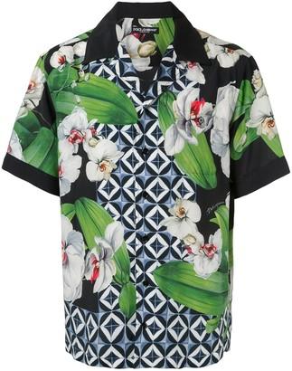 Dolce & Gabbana orchid-print Hawaii shirt