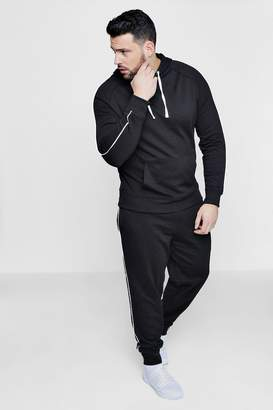 boohoo Big And Tall Skinny Fit Hooded Tracksuit