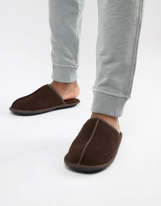Dunlop Sheepskin Slip On Slipper