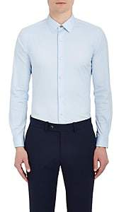 Paul Smith Men's Cotton-Blend Poplin Dress Shirt - Blue