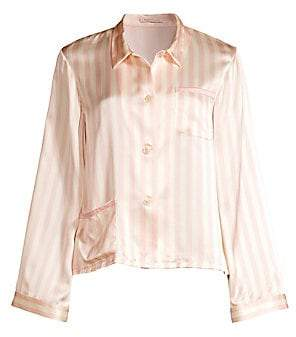 9da05091af95e Morgan Lane Lane Women s Ruthie Silk Striped Pajama Top