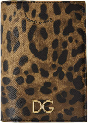Dolce & Gabbana Tan and Black Passport Holder